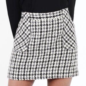 J.Crew Wool Houndstooth Skirt